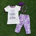 Meninas roupas de verão bebê meninas roupas boutique crianças embora seja pouco ela é feroz outifts com accessoreis
