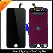 Freies verschiffen + tracking no. 100% getestet für brand new 5,5 'for iphone 6 plus lcd display digitizer montage-weiß/schwarz