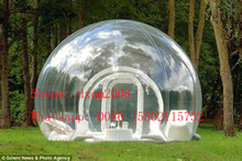 Customized Outdoor Single Tunnel Inflatable Bubble Tent Family Camping Backyard Transparent