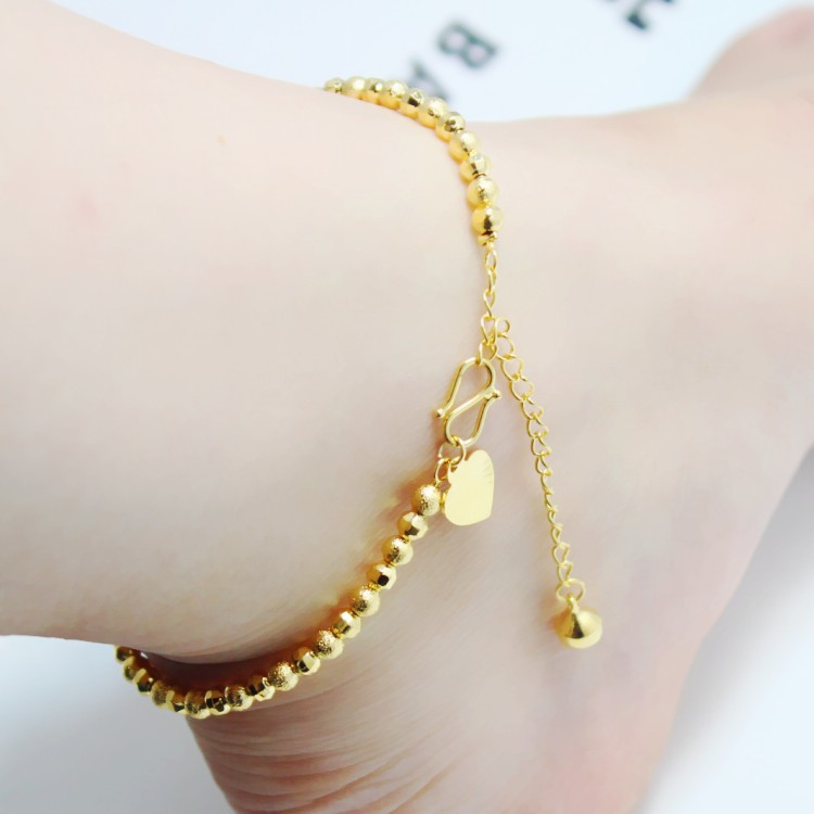 Classical Top Trendy 24K Gold plated Carved 3MM Small Beads 1:1 ...