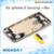 Liga de metal de volta caso da tampa do quadro para a habitação iphone 6 peças de reposição da porta da bateria + teclas laterais 1 peça livre grátis