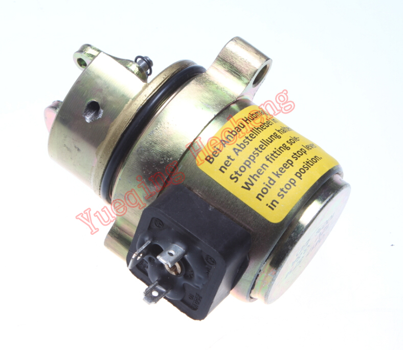 Shutdown Solenoid 0417 5714 04175714 12V FOR F4L1011F Engine Parts 3924450 2001es 12 fuel shutdown solenoid valve for cummins hitachi