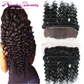 """2016 New Arrival 13x4 Brazilian Hair Deep Wave Full Lace Frontal Closure 1pc 12""""-20"""" From Ear to Ear Lace Frontal Free Shipping"""