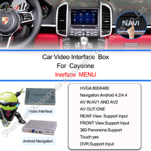 car navigation box Android 4 4 For Porsche Cayenne 2010 2016 gps interface rear view camera