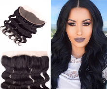 Brazilian 13×4 Lace Frontal Closure 7A Grade Body Wave Lace Frontal Bleached Knots Brazilian Virgin Hair Free Middle Three  Part