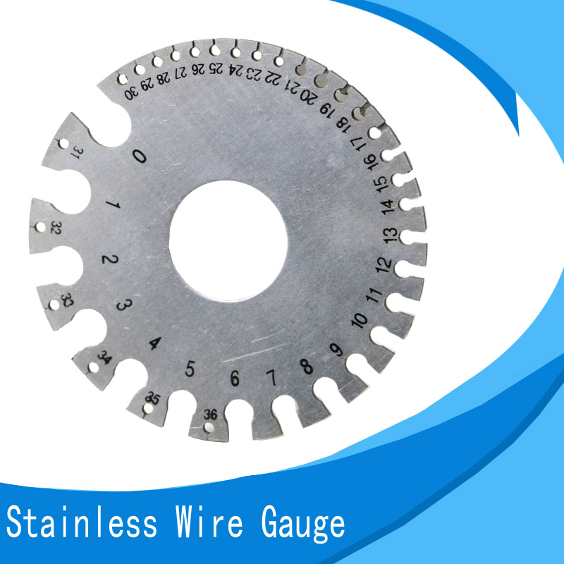 0-36 Round Wire Gauge Weld Diameter Gauge Welding Inspection Stainless Steel Inch Inspection A.W.G Gauges American Standard