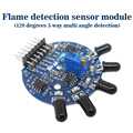 Free shipping five level signal output 5 road flame detection sensor