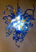Bright Blue Style Wedding Decorative LED Crystal Chandelier New Arrival