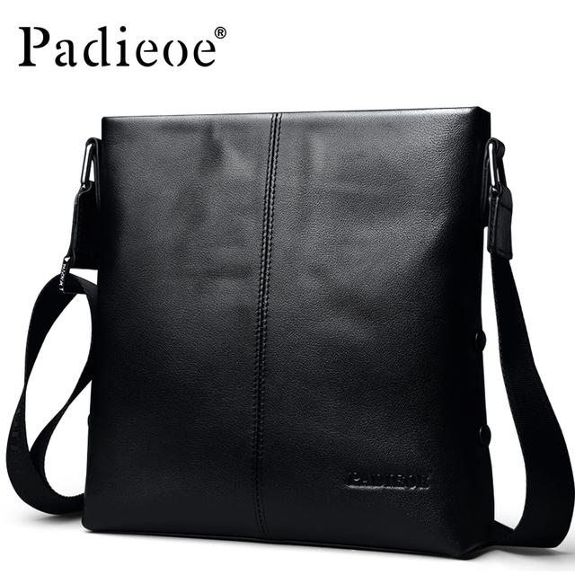 2016 Moda couro genuíno do saco de couro de negócios de luxo de couro dos homens mensageiro sacos de couro para os homens de alta qualidade bolsa de ombro