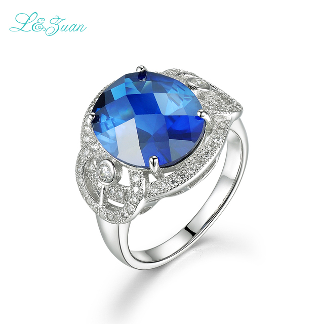 unique design for women luxury brand sapphire prong setting ring western style classic sterling silver jewelry - Western Style Wedding Rings