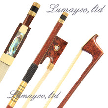 Wholesale 2 Pc Prefessional Carbon Fiber Violin Bow 4/4 Good Balance Snakewood Frog Natural White Horsehair Parts Fittings