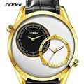 SINOBI relógio de Ouro Dos Homens Marca de Moda Casual Esporte Relógios Dos Homens Relógio de Quartzo de Couro À Prova D' Água Homem Relógio militar Relogio masculino