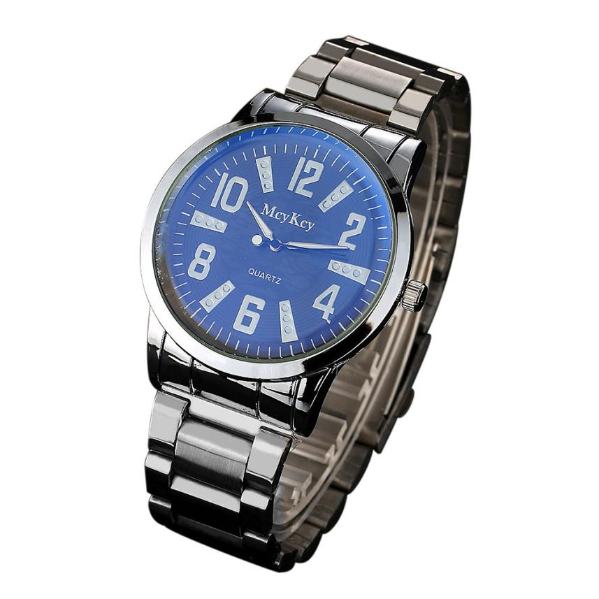 Top Luxury Brand Men Watch Stainless Steel Band Analog Quartz Wrist Watch Blue Glass Men Business Watches relogio reloj hombre велосипед stels navigator 310 lady 2016