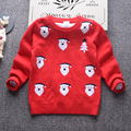 2017 New Christmas Santa Boys Girls Knitted Sweater Autumn Winter Children Cotton Warm Pullover Unisex Kids Christmas Clothing