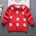 2017 Nuevo Navidad de Santa Niños Niñas Suéter de Punto Otoño Invierno Algodón de Los Niños Suéter Caliente Unisex Niños Ropa De Navidad