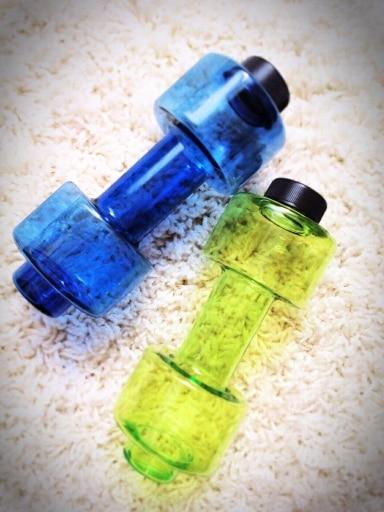 Бутылочки для воды в виде гантели с Алиэкспресс