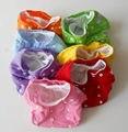 Pañal de tela de bolsillo ( bundle ) bebé lavables reutilizables All in One Size pañales de bolsillo con ajustable low rise encaje 7 colores