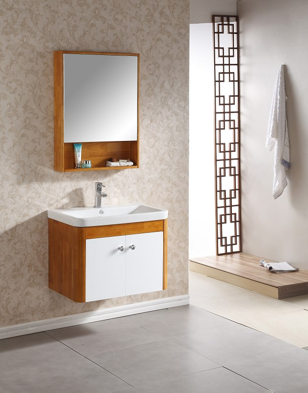 Us 650 0 Modern Design Solid Wood Bathroom Cabinet 0283 100 On Aliexpress