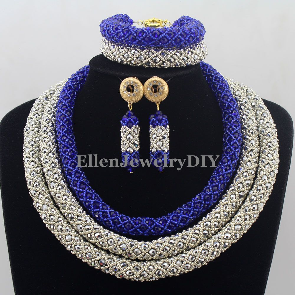 African Statement Necklace Set Crystal african beads Jewelry sets Womens Jewellery Set Nigerian Wedding Beads Jewelry Set W12793 red color african beads jewelry sets two layer beads indian jewelry sets luxury statement choker necklace fashion jewellery