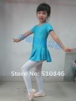 бесплатная доставка! новый синий балет девушки с Корк рукавом костюм дети ну поливать танец гимнастика coal юбка платье для фигурное катания СЗ 3-10у