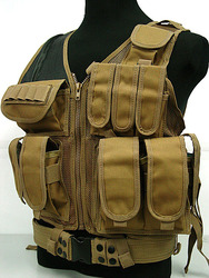 CB Cross Draw/ Pistol Mag Vest for airsoft Police EOD Vest