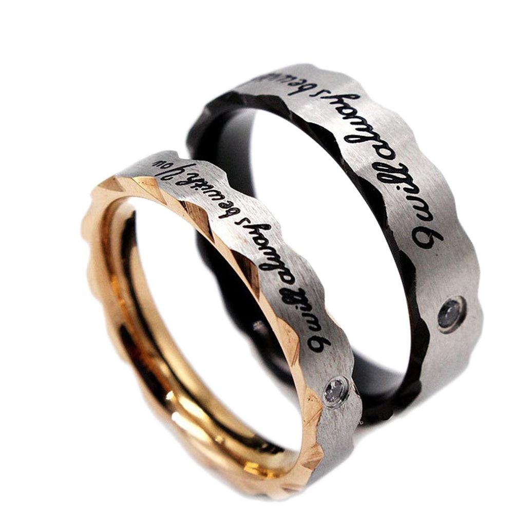Men Wedding Rings Romantic Lover