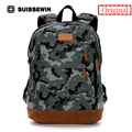 Suissewin Camouflage Teenage Backpack MenCasual Backpack Waterproof School Backpack Swisswin High Quality Backpack for Macbook