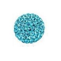 самая низкая цена бесплатная доставка 100 шт./лот глиняные бусы кристалл шамбалы проложить горный хрусталь дискотека 10 мм шарики бусы