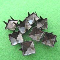 новый продукт, 1000 шт./лот, 8 мм, бронзовый пирамида шпильки пятна панк рок байкер шипы сумка туфли браслет одежда, бесплатная доставка