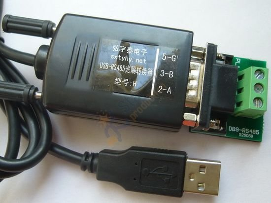 Промышленный Оптический изолированный USB 2,0 к RS485 RS-485 адаптер конвертер съемный, 600 Вт Защита от перенапряжения, поддержка win7