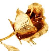 бесплатная доставка! со дня рождения подарки, мать розы подарки, позолоченные выросли на 16 длина см, высокой чистоты 24 к красное золото, любовь подарок