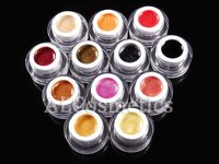 12 цветов акромя жемчуг уф-гель комплект уф-лак-гель комплект для ногтей советы # 519