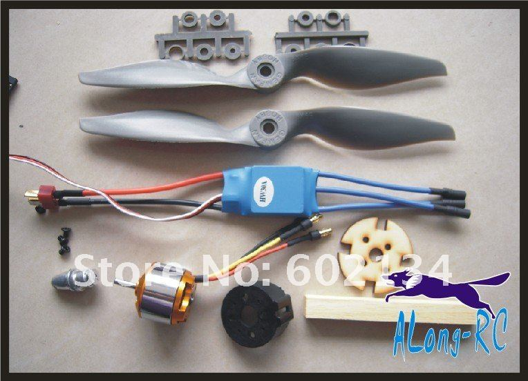 free shipping XXD2212 KV2200 +30A ESC+<font><b>6040</b></font> <font><b>PROPELER</b></font> POWER SET/ for KT airplane/rc model/war plane/good PUSH power image