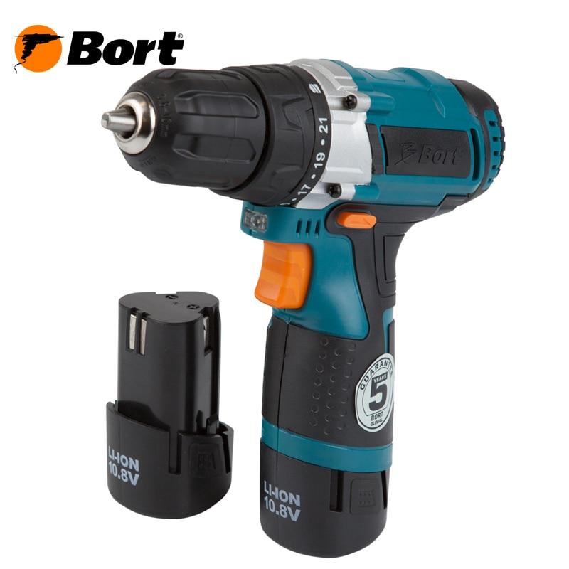 Cordless Drill/Driver Bort BAB-10,8N-LiD tx 10pcs tungsten carbide drill bit tool set for metal 0 8mm cnc circuit board engraving instruments mini pcb drill bits kit