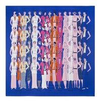 Beauty Scarf Women Square Silk Scarves Echarpe Foulard De Marque Summer Luxury Foulards Brand New