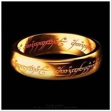 Господь хоббит титана нержавеющая письмо сталь один кольца стали мужские черный