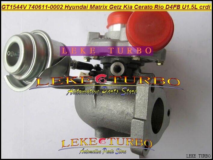GT1544V 740611 740611-5001 S 740611-0001 28201-2A100 Turbo Турбокомпрессор Для Hyundai Matrix Getz Cerato Рио D4FA D4FB 1.5L 1.6L
