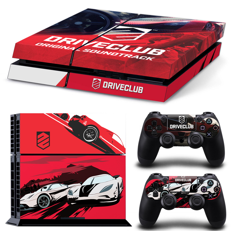 Car Drive Club Vinyl Gaming Skins for PS4 console + 2controller stickers Decal ...