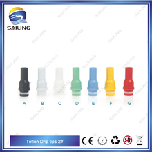 Sailing original electronic cigarette Teflon drip tips beautiful outside view for 510 thread atomizer