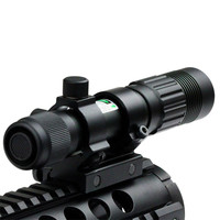 Good Quality Flashlight Adjustable Laser Sight Tactical Hunting Green Illuminator Designator with Weaver Mount and Switch