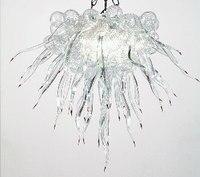 Belo Luxuoso Flor Transparente Mão Soprado de Murano Glass Chandelier para Hotel|flower chandelier|murano blown glass|hand blown glass chandelier -