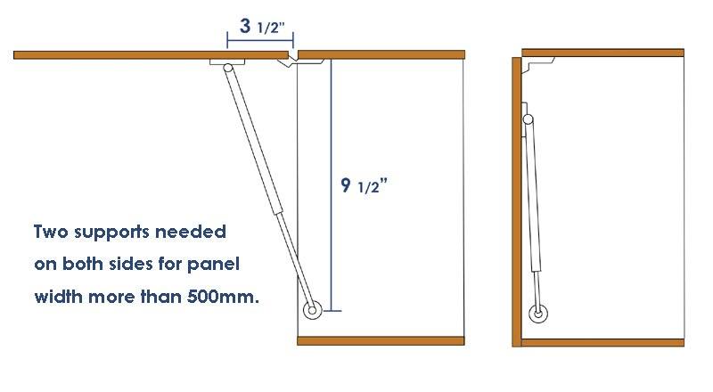 Aliexpress.com : Buy 2 Cabinet Door Lift Pneumatic Support ...