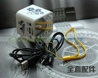 привлекательный синий и белый фарфор динамик с / ТФ / с U-диск / FM-радио-функции. на ближний свет фар мини портативный динамик. бесплатная доставка