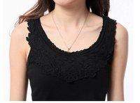 корея женская майка рубашки - из грубой разбора кружево бесплатная доставка 008