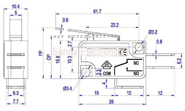 microswitch circuit 6a 250vac micro switch spdt limit switch in carmicroswitch circuit 6a 250vac micro switch spdt limit switch in car switches \u0026 relays from automobiles \u0026 motorcycles on aliexpress com alibaba group