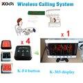 Sistema de Paginação sem fio Fácil Chamada Convidado Chamador Eletrônico Equipamento Restaurante Pager K-303 + K-F4 para A Ordem Da Amostra