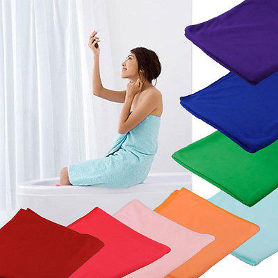 Hot Selling 70x140cm Absorbent Microfiber Beach Bath Towel Drying Washcloth Swimwear Daily