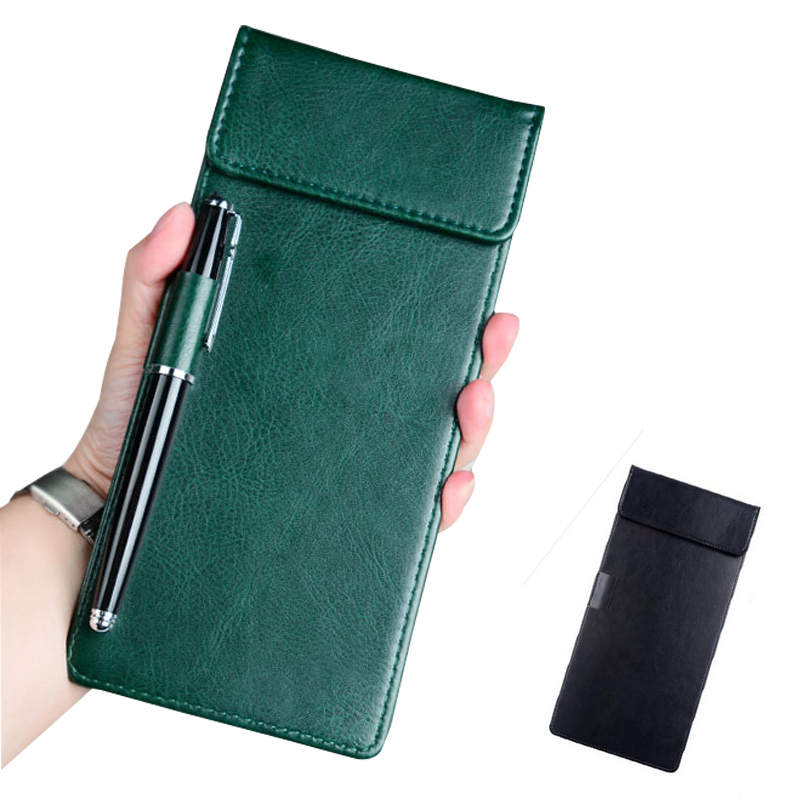 Restaurant Hotel Office Cashier Holder Writting Pad, Cheque Holder Folder With Clip