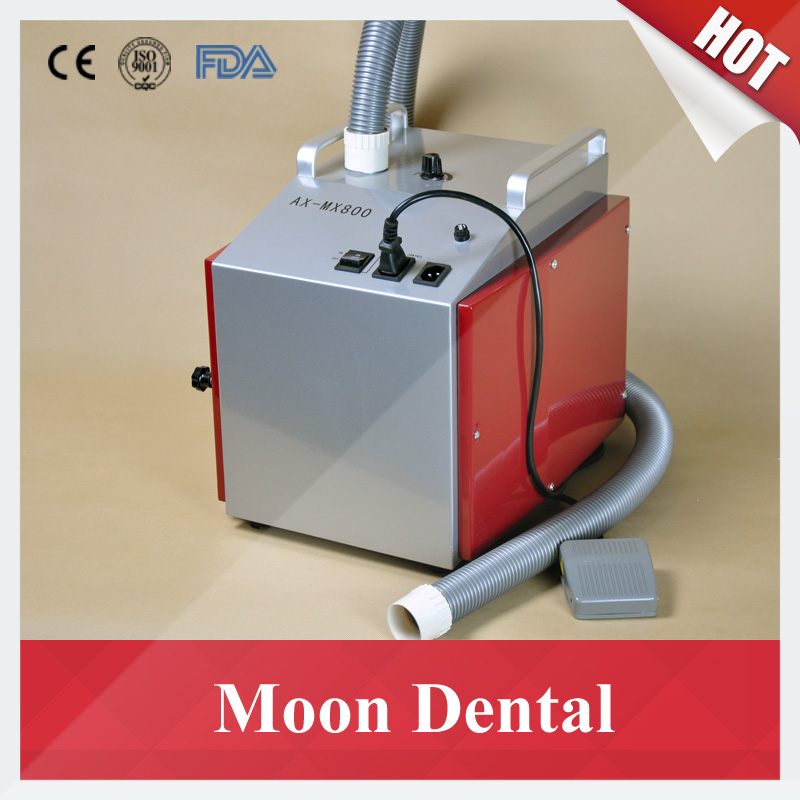 Dental Lab Equipment Low Noise AX-MX800 Dental Vacuum Dust Extractor with Foot Switch for Dust Extraction in Dental Labs high quality 2 units dental lab dental vacuum dust extractor equipment machine collector unit ax super800