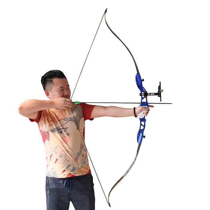 2016 New Archery Recurve Hunting Bow Aluminum Riser Bow with Whole Sets Equipments 3 color 30 50lbs recurve bow 56 american hunting bow archery with 17 inches metal riser tranditional long bow hunting